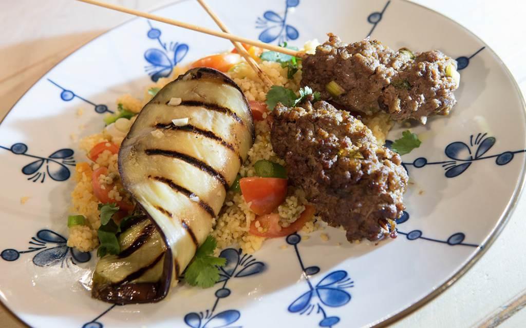 Couscous met köfte